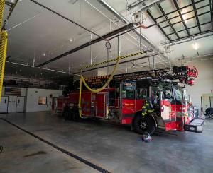 Inside Prairie Village Fire Station Number No. 23